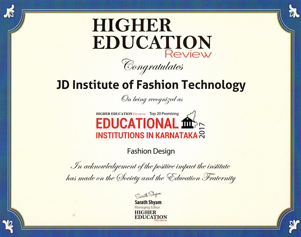 Editorial Release and Recognition by Higher Education Review editorial release and recognition by higher education review - JD Institute Award Certificate - Editorial Release and Recognition by Higher Education Review