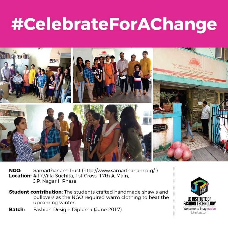 Samarthanam Trust jd students make a change this diwali - Samarthanam - JD Students make a change this Diwali | JD Institute