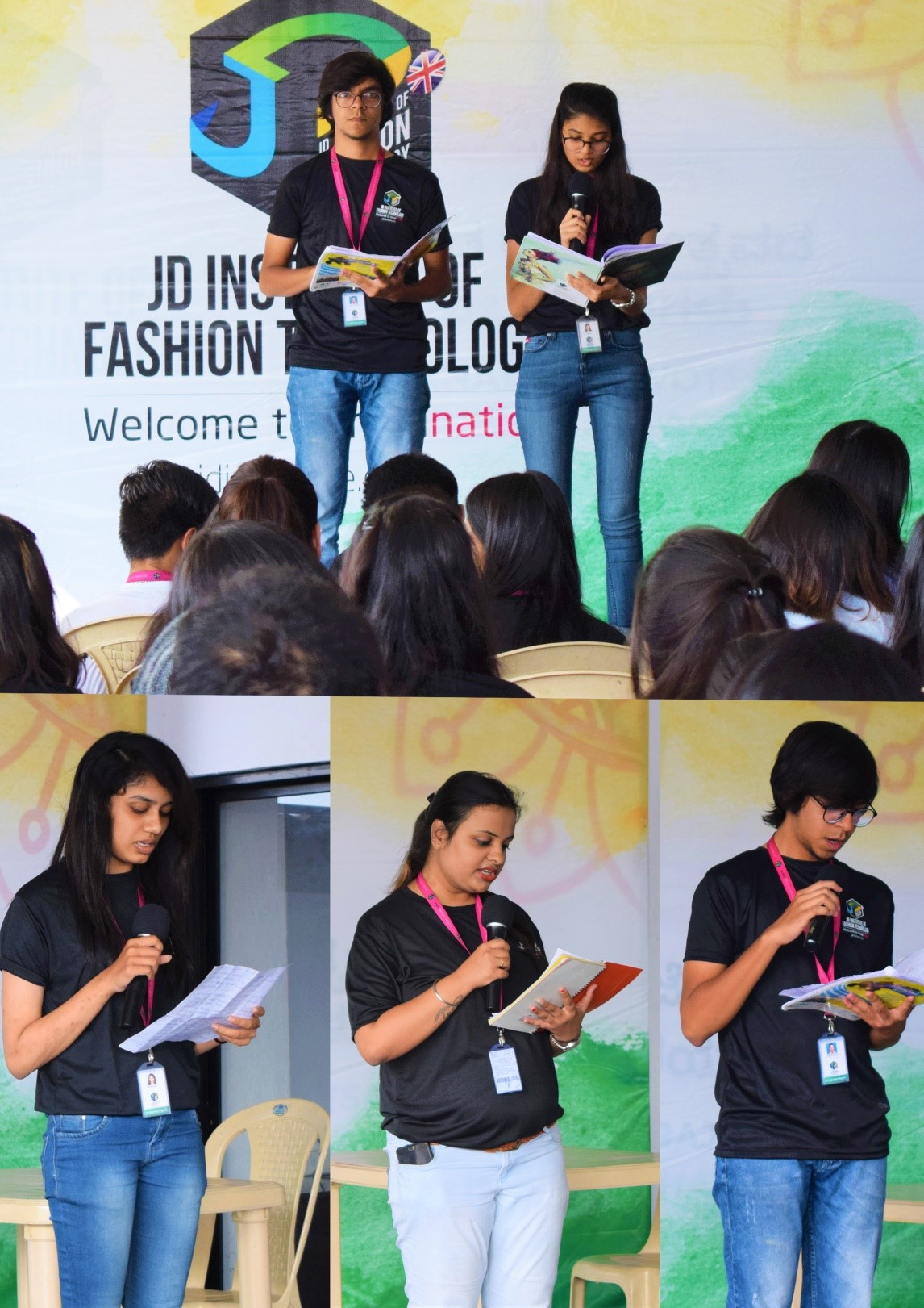 """The students also expressed their thoughts through speech on the topic """"National Integrity"""". national youth day at jd institute - 2 1 - National Youth Day at JD Institute, Bangalore"""