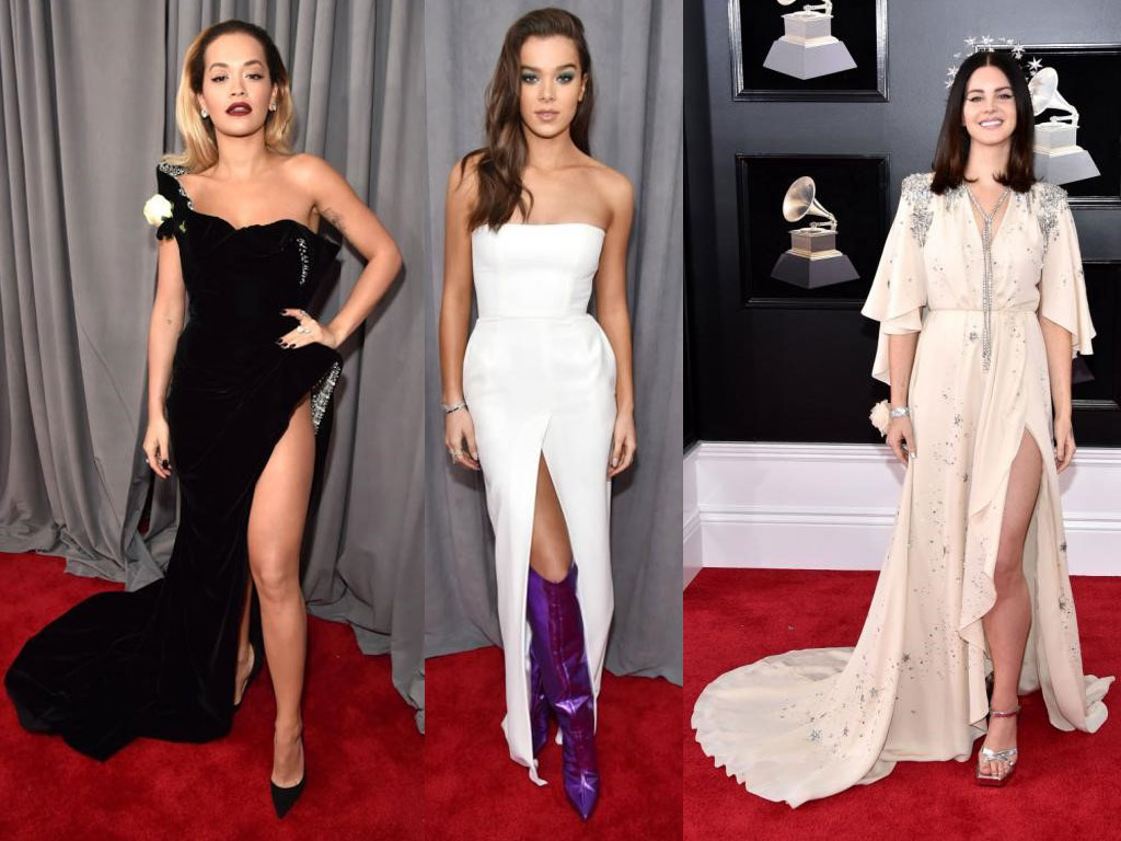 Thigh High Slit grammy 2018 - Thigh High Slit - Grammy 2018: Red Carpet Review by JD Institute