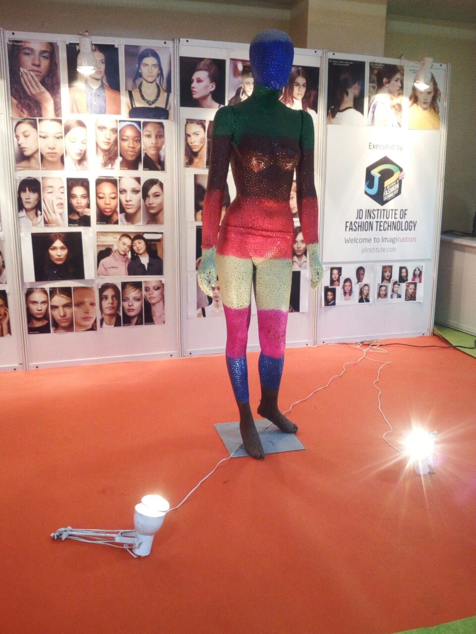 trade show 2018 trade show 2018 - art installation2 - JD Institute at the Fabrics & Accessories Trade Show 2018