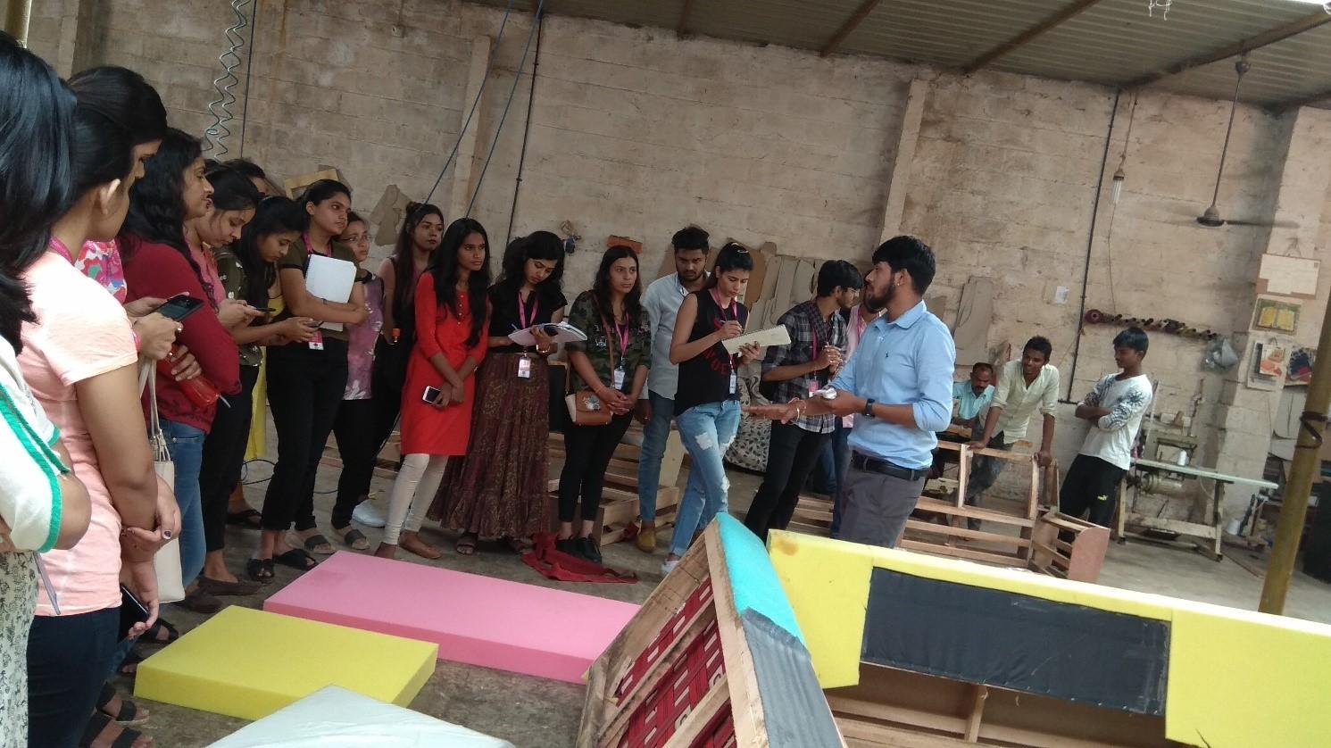 industrial visit for the interior design course students - Sofa factory Visit4 - Industrial Visit for the Interior Design Course Students