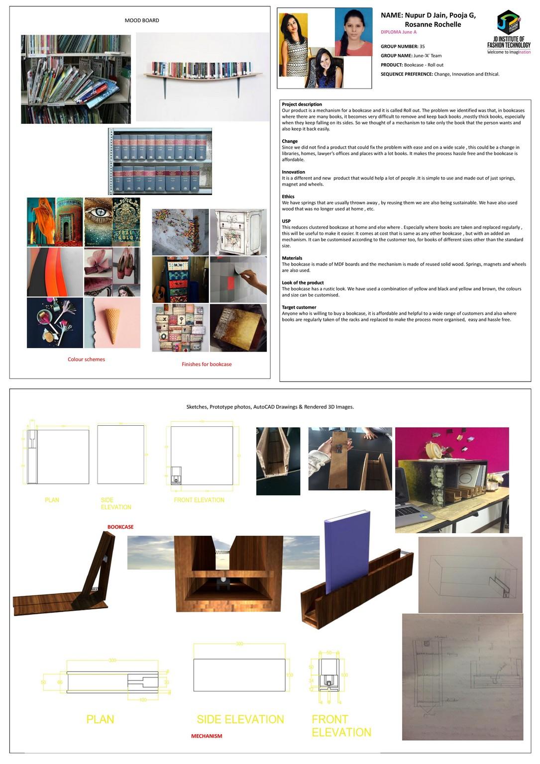 Rustic Bookcase– Change – JD Annual Design Awards 2018 | Designer: Rosanne Rochelle, Pooja G, Nupur D Jain | Photography : Jerin Nath (@jerin_nath)  rustic bookcase - rustic bookcase1 - Rustic Bookcase– Change – JD Annual Design Awards 2018