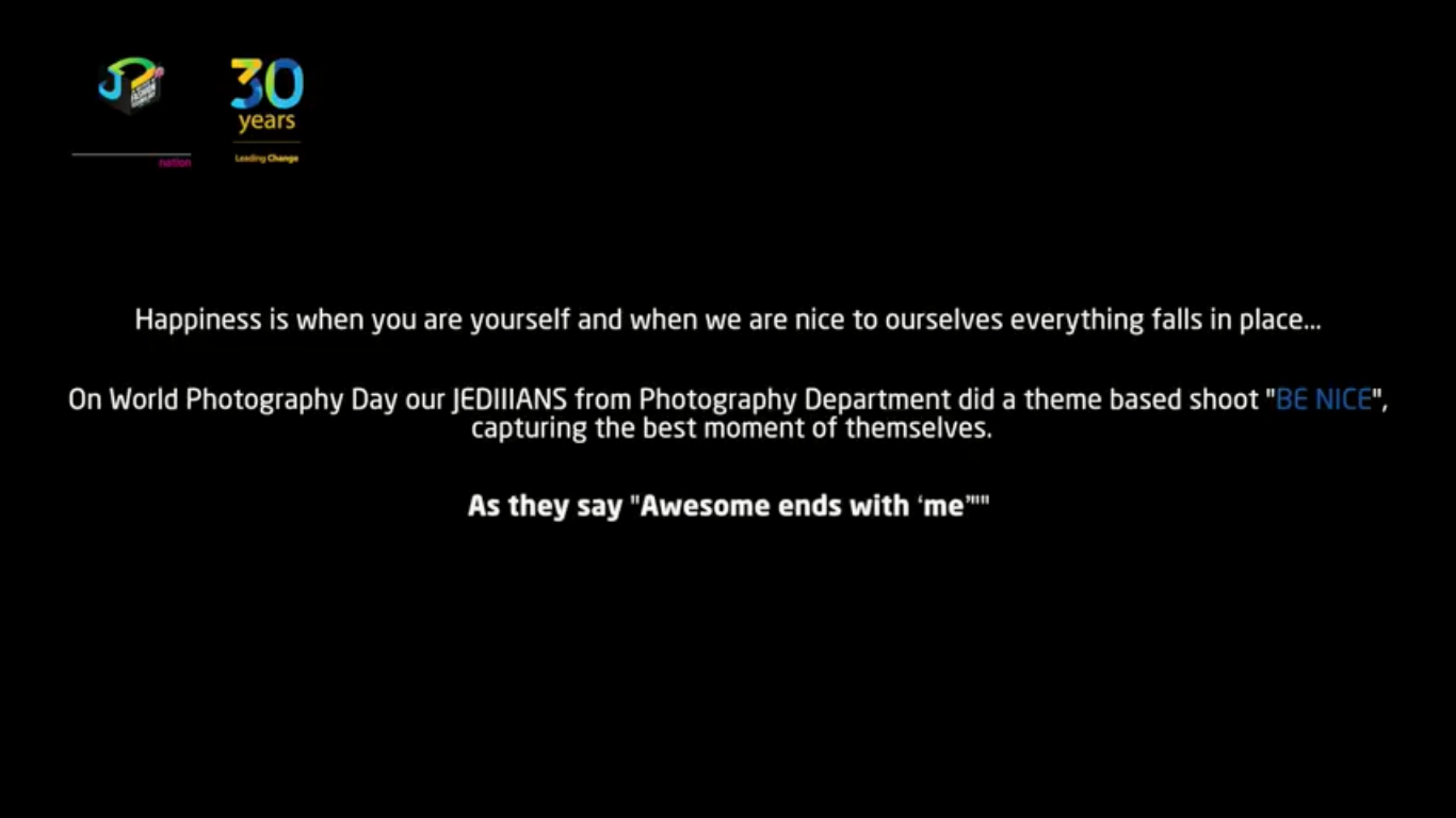 """JEDIIIANS observing world photography Day 2018 with the theme """"BE NICE"""" world photography day - 2 1 - JEDIIIANS observing world photography Day 2018 with the theme """"BE NICE"""""""