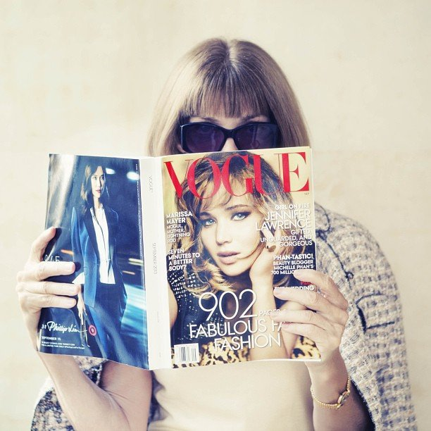 The Fashion Power House Anna Wintour the fashion power house - Anna Wintour snapped reading Vogue September issue - The Fashion Power House Anna Wintour and her top 10 rules