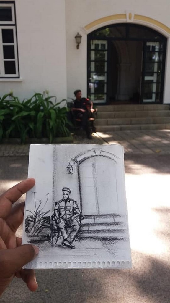 PERSPECTIVE perspective - A photo of the sketched perspective - PERSPECTIVE