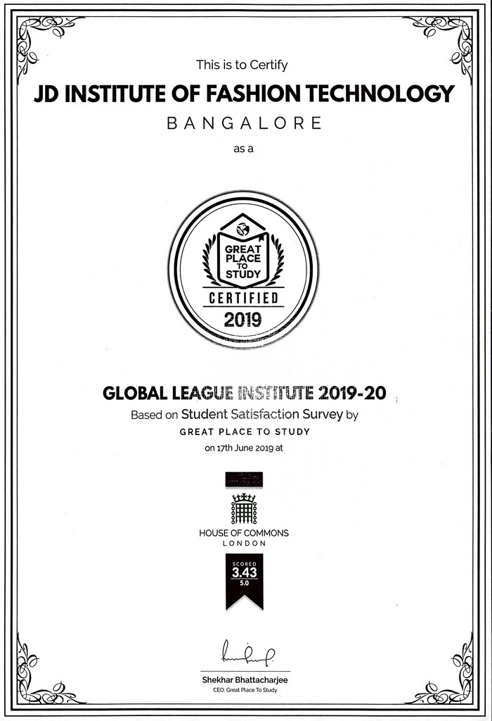 JD Institute jd institute - JD Institute receives    The Global League Institute    by Great Place to Study London 2 - JD Institute receives 'The Global League Institute' by Great Place to Study, London