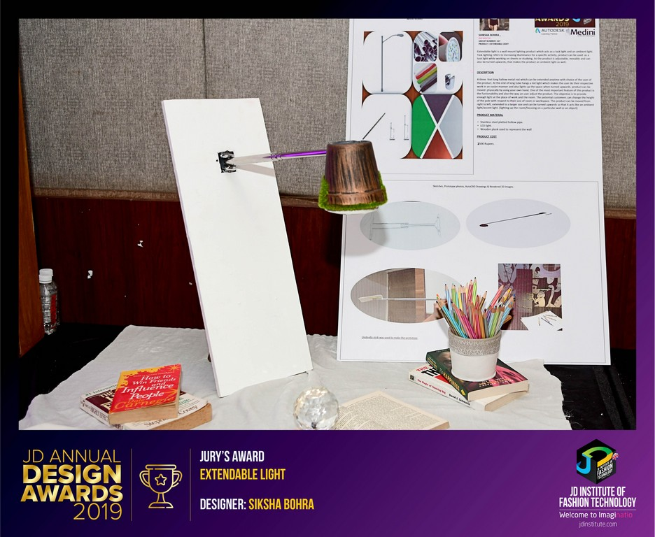 Extendable Light extendable light - Winners Facebook8 - Extendable Light – Curator – JD Annual Design Awards 2019 – Interior Design.
