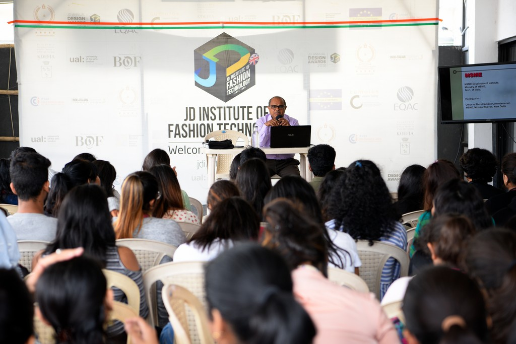 MSME msme - DSC9462 - An Insightful session with Mr Gopinath Rao, Assistant Director, Ministry of MSME | Fashion Department