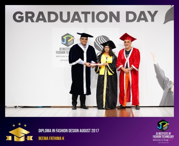 jd institute - Diploma In Fashion Design 3 - JD Institute Holds Graduation Ceremony for its Diploma and Post Graduate Students