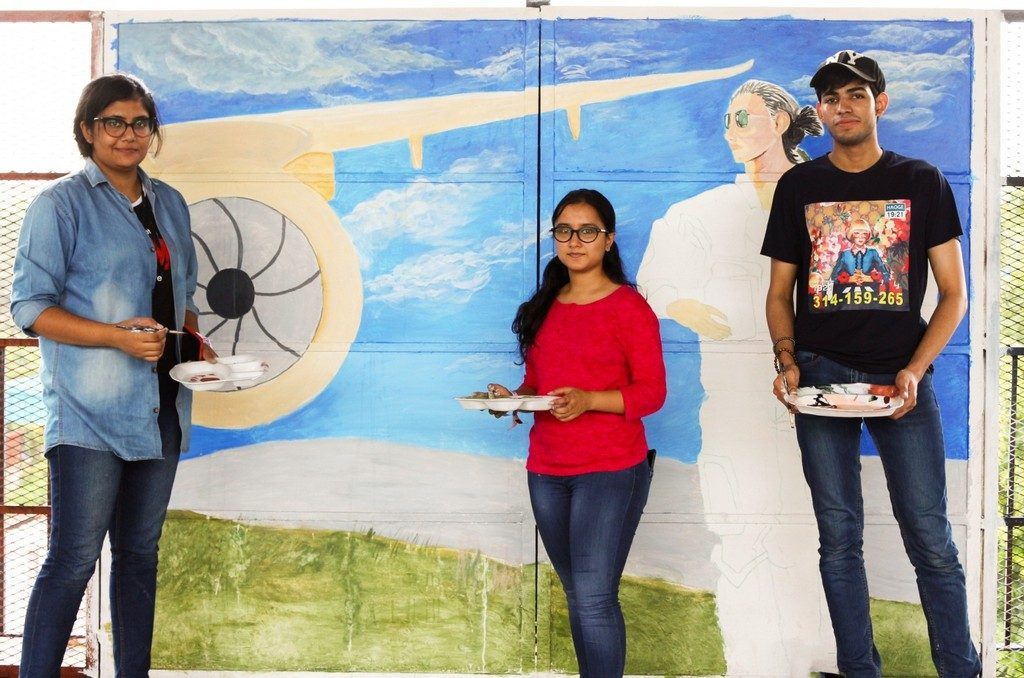 students of jd institute of fashion technology gives tilak bridge a facelift - image002 1024x678 - Students of JD Institute of Fashion Technology gives Tilak Bridge a facelift