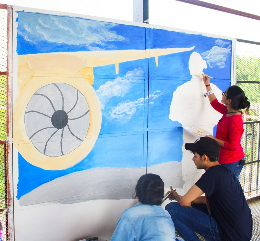 students of jd institute of fashion technology gives tilak bridge a facelift - image005 - Students of JD Institute of Fashion Technology gives Tilak Bridge a facelift