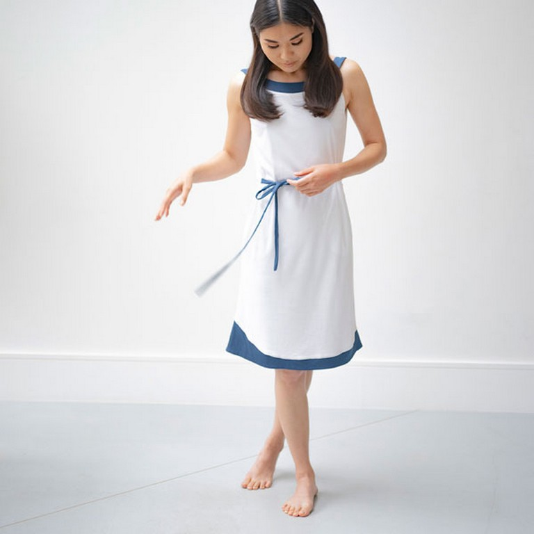 SUSTAINABLE sustainable - WAVE DRESS 2 - FASHIONABLY SUSTAINABLE MATERIALS