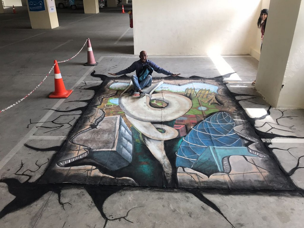 3d street art installation - 3D Street Art Installation0 - 3D Street Art Installation – Decathlon Sports Utsav