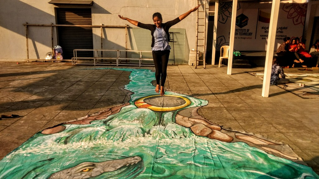3d street art installation - 3D Street Art Installation6 - 3D Street Art Installation – Decathlon Sports Utsav