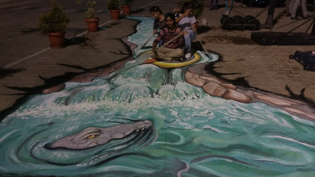 3d street art installation - 3D Street Art Installation7 - 3D Street Art Installation – Decathlon Sports Utsav