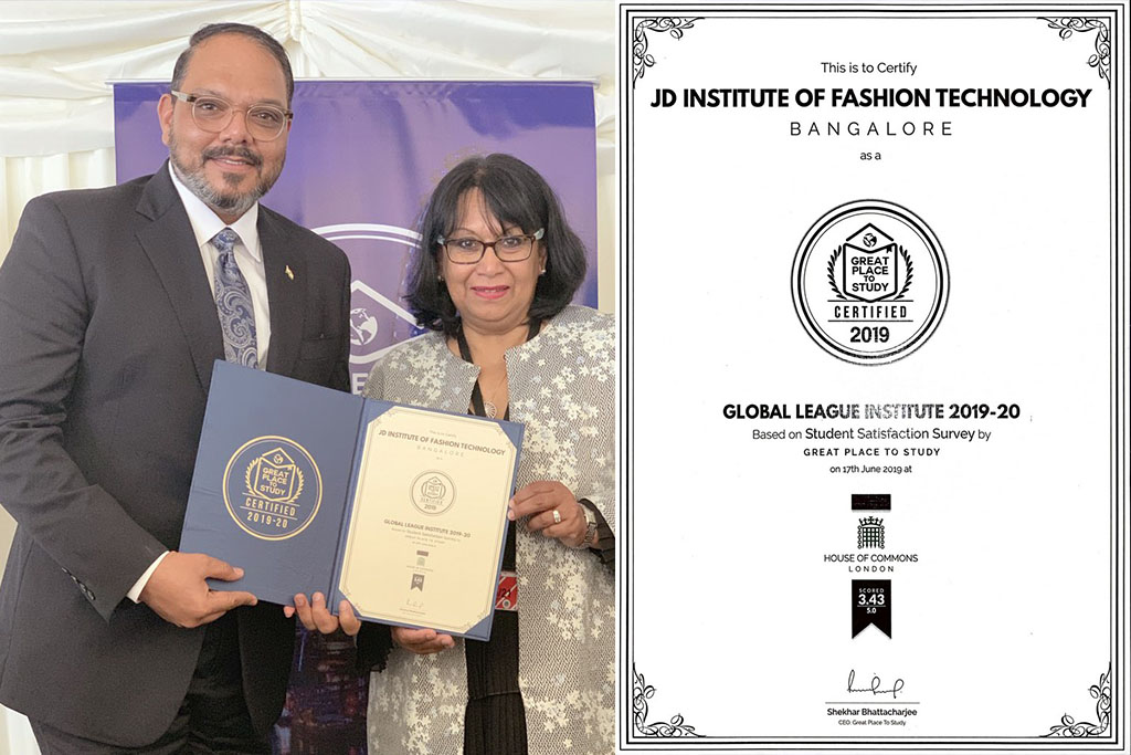 fashion designing institute - JD Institute receives    The Global League Institute    by Great Place to Study London - Home Page