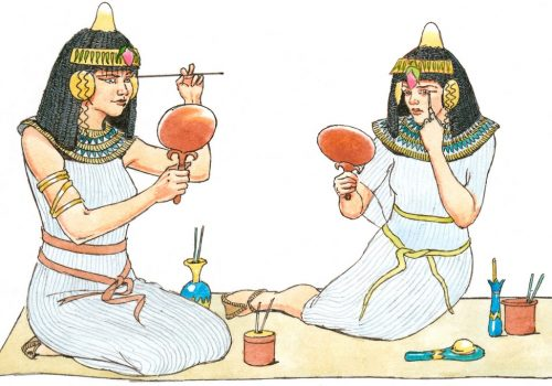(Image Source: Makeup LoveToKnow) makeup - Egyptians 500x350 - MAKEUP, IS A TOOL THAT IS USED TO WEAVE MAGIC BY MAKEUP ARTISTS