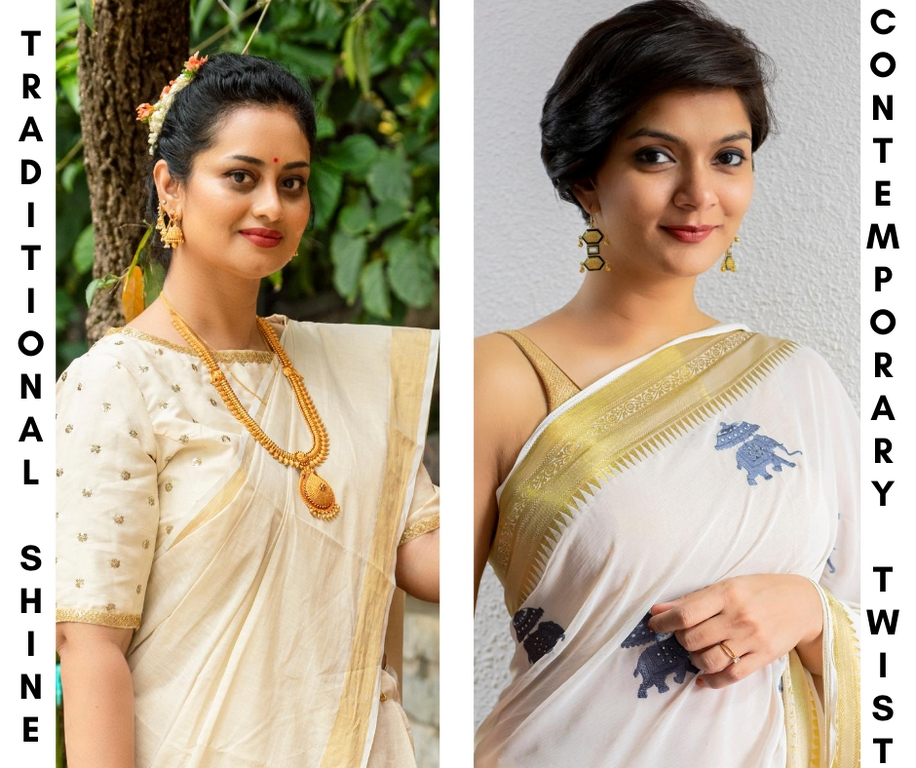 onam look - Gold Jewellery - The Onam look is much easy to ace with these simple tips
