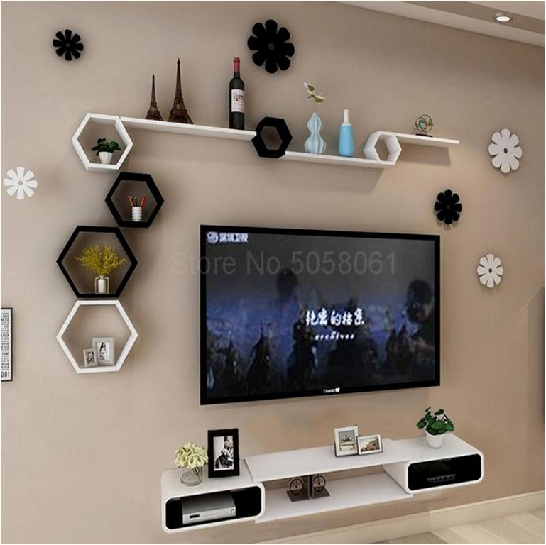 interior design - Wall mounted televisio and storage - INTERIOR DESIGN TIPS TO CONVERT A SMALL SPACE TO EXUDE LUXURY