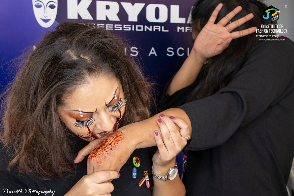 Halloween look special effects makeup - Halloween look - Special Effects Makeup workshop for students from Dept. of Makeup and Hairstyle Artistry