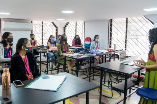 social distancing in class classroom learning - social distancing in class 500x333 - Classroom learning finally resumes at JD Institute after reopening
