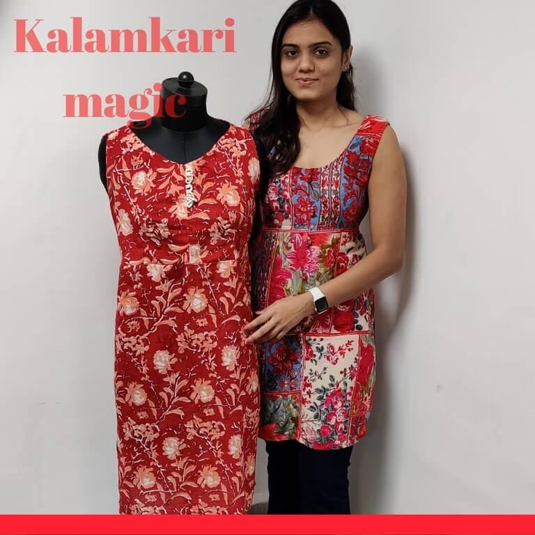 Kalamkari diploma in fashion design - Kalamkari - Diploma in Fashion Design students display Draping and GMT/PMT techniques