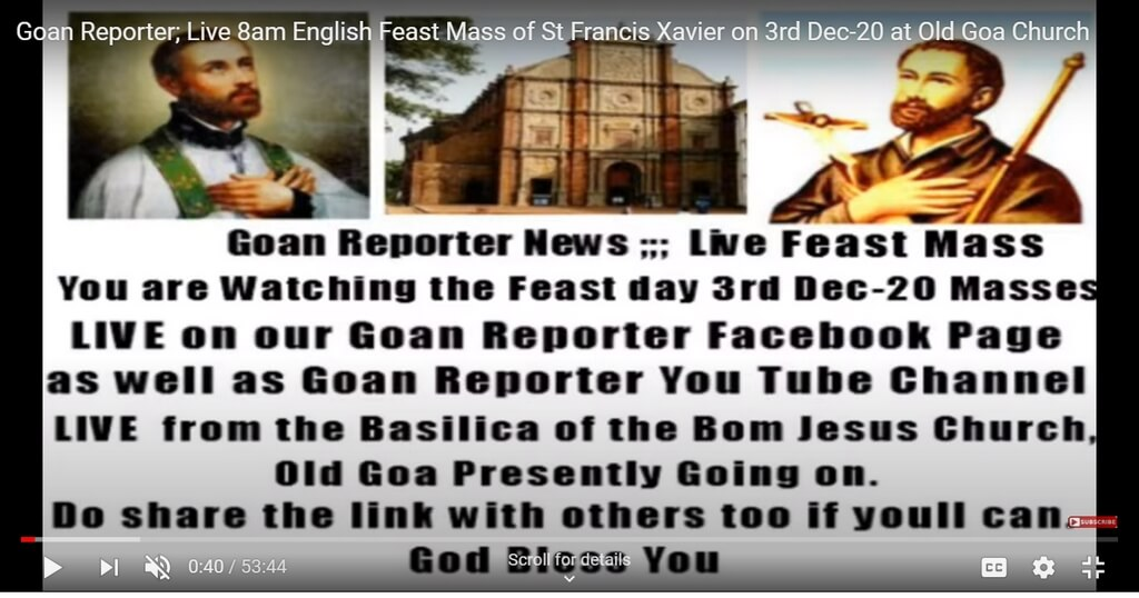 feast of st. francis xavier - Online mass - Feast of St. Francis Xavier celebration and festivities in Goa