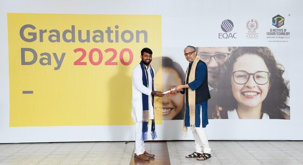 graduation ceremony - student receiving degree - Graduation Ceremony for students of JD Institute of Fashion Technology