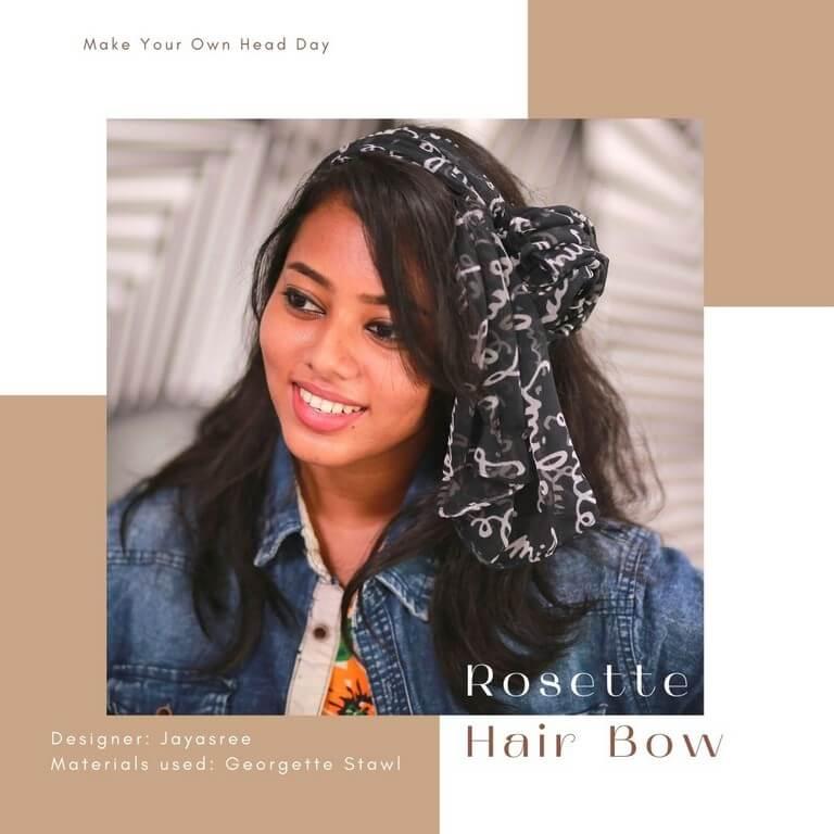 HEADDRESSES FOR EVERY OCCASSION headdresses - Rosette Hair Bow - HEADDRESSES FOR EVERY OCCASSION