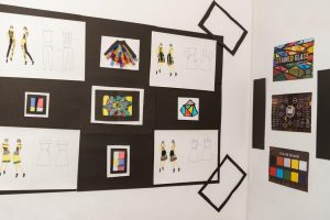 Fashion collection display inspired by art and costume history pg diploma in fashion design and business management - Stained glass board 300x200 - PG Diploma in Fashion Design and Business Management – 2 Years