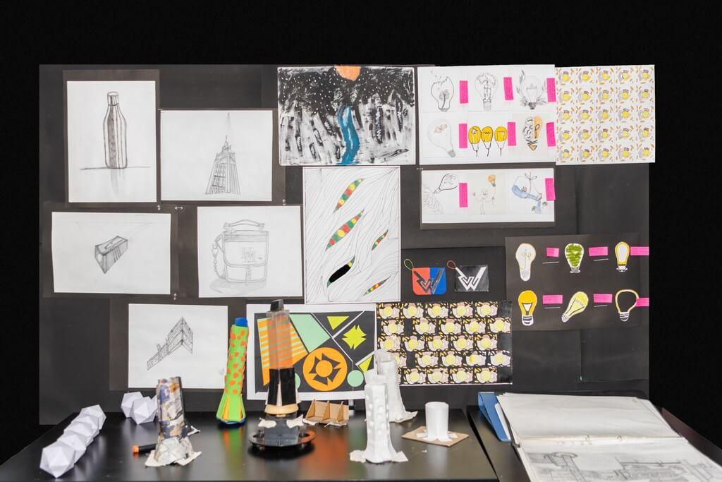 fashion design - Display 1 - Fashion design students from ADFD 2020 batch display their Term 1 work