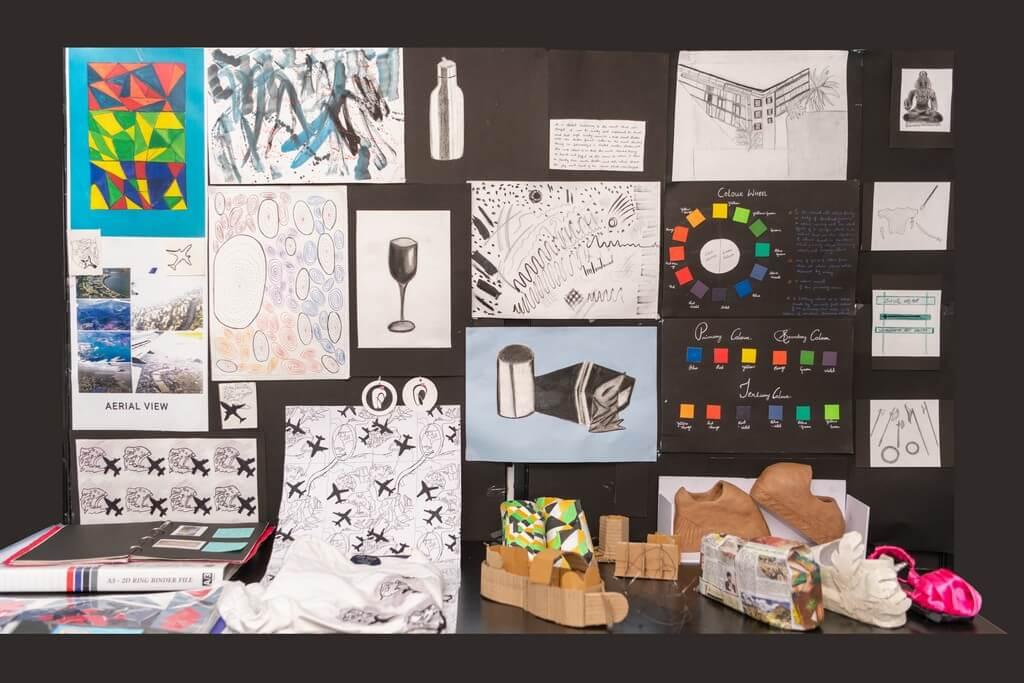 fashion design - Display 4 - Fashion design students from ADFD 2020 batch display their Term 1 work