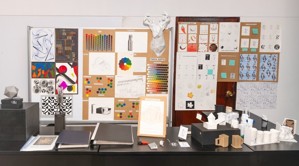 Fundamentals of Art fashion design - Fundamentals of Art - Fashion design students from ADFD 2020 batch display their Term 1 work