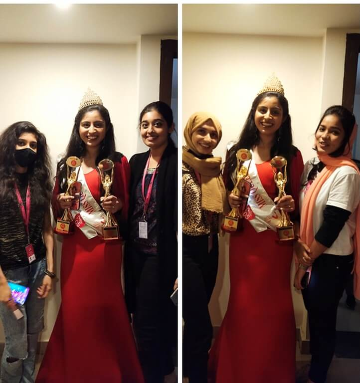 mrs. india global 2021 - Student volunteers - Mrs. India Global 2021 Students of JD did outstanding job at