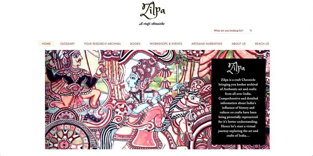 Craft archive: online documentation craft - Thumbnail Image Zilpa Homepage - Craft archive: online documentation