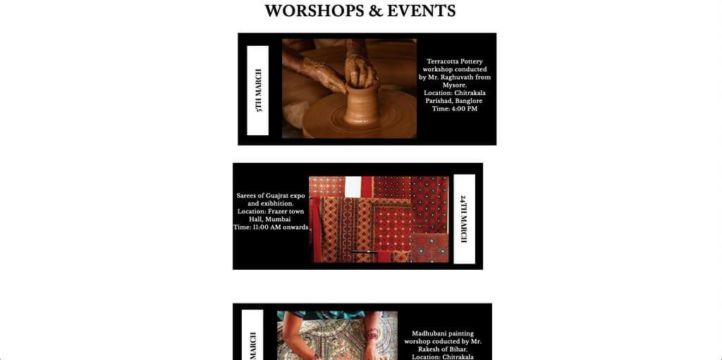 Craft archive: online documentation craft - Workshops and Events - Craft archive: online documentation