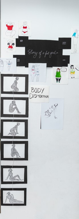 brand prototypes - black and white art - Brand Prototypes with a Spin – Display and Jury by students of PGDFC