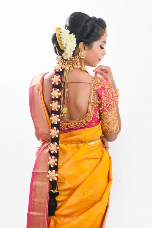 South Indian Bridal Workshop by Guest Faculty –Ms. Naina Singh south indian bridal look - hairstyle 1 - South Indian Bridal Look Workshop by Guest Faculty –Ms. Naina Singh