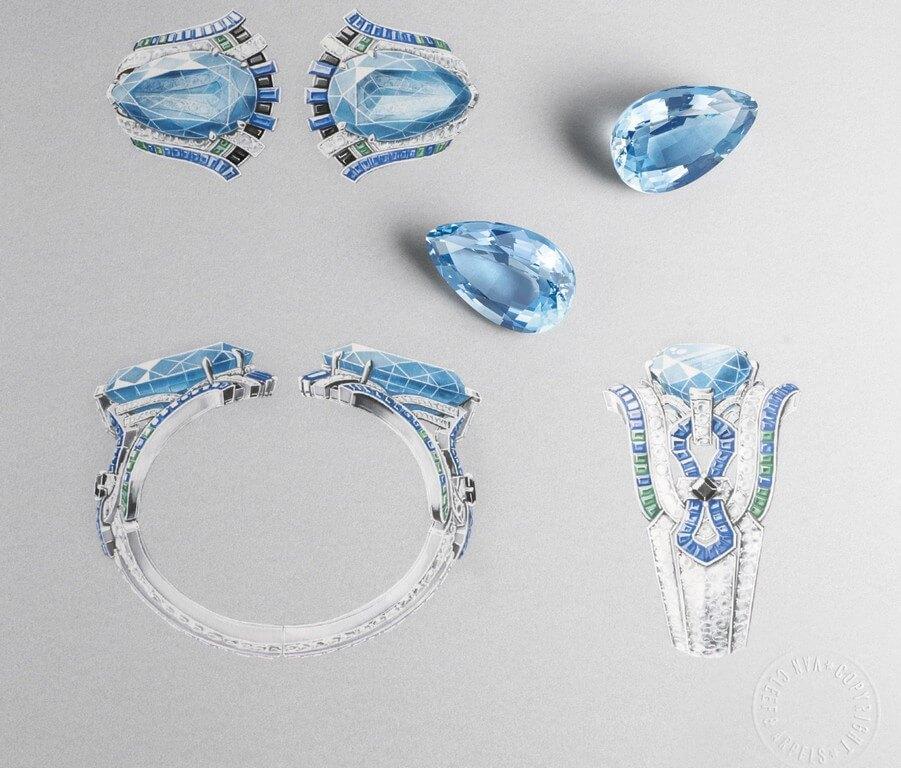 Gouache Painting for Jewellery Design gouache painting - Gouache painting - Gouache Painting for Jewellery Design