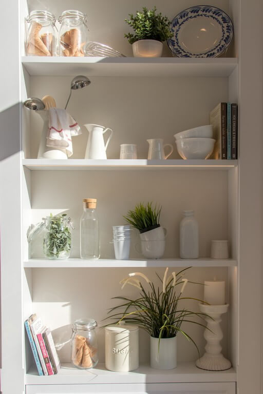 Open shelves - 6 ways to style them open shelves - Open shelves 6 ways to style them 2 - Open shelves – 6 ways to style them