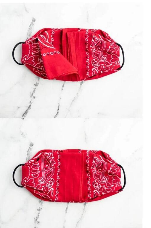 DIY face masks - Easy steps to make trendy, no-sew masks diy face masks - DIY Step 3 - DIY face masks – Easy steps to make trendy, no-sew masks