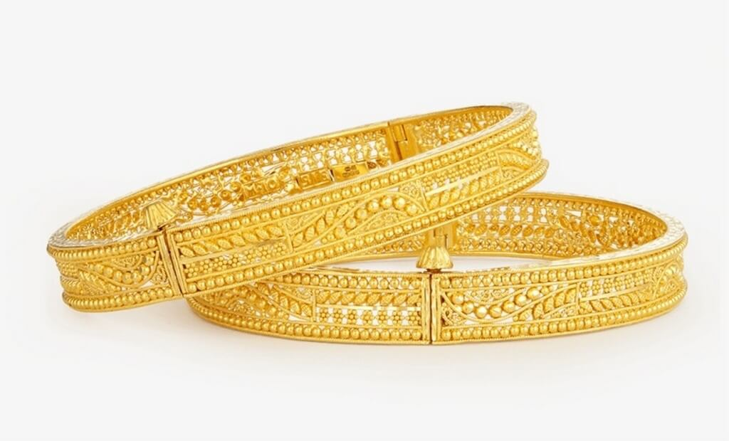 Indian Jewellery Types – Must have for every occasion indian jewellery - Gold Jali Bangles - Indian Jewellery Types – Must have for every occasion