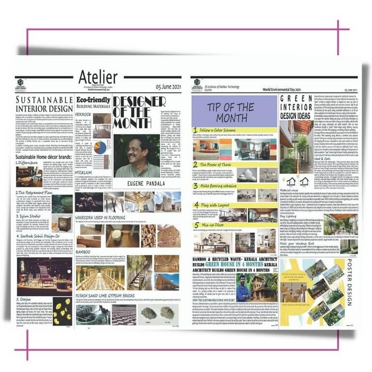 Atelier – A monthly Digital Newsletter by JD Institute, Cochin  atelier - Interior Design - Atelier – A monthly Digital Newsletter by JD Institute, Cochin