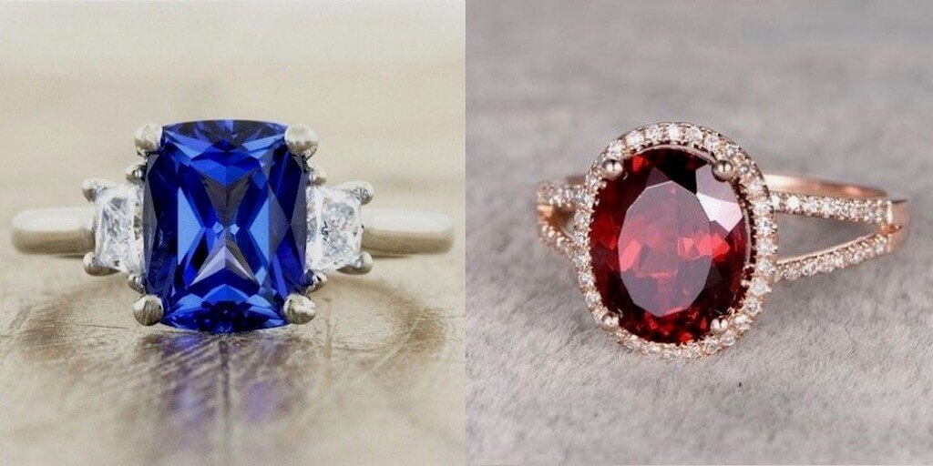 Gemstones – What different stones mean? gemstones - Sapphire and Ruby engagement rings - Gemstones – What different stones mean?