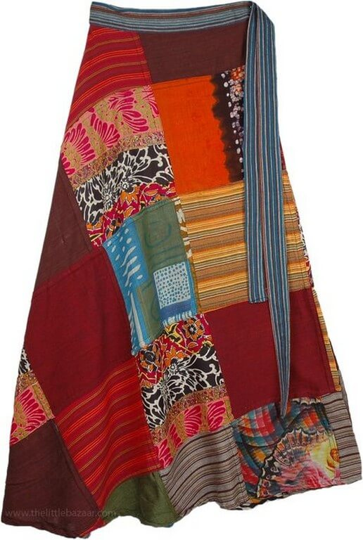 Patchwork - Patches of Beauty patchwork - flowy skirt - Patchwork – Patches of Beauty