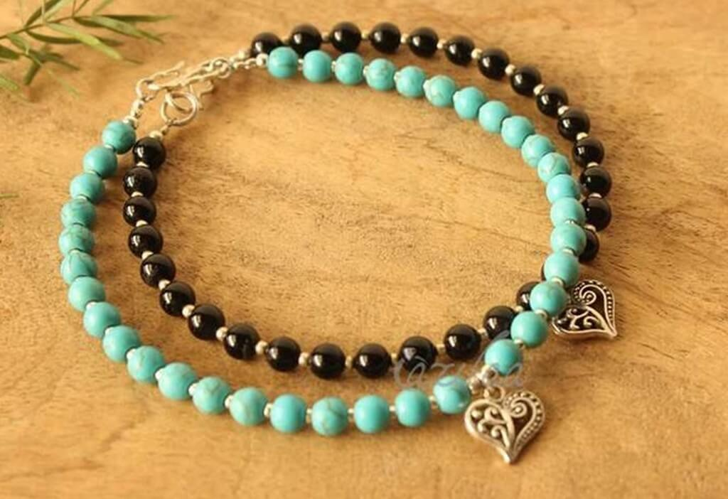How to make your own jewellery using beads? jewellery - Bead anklet - How to make your own jewellery using beads?