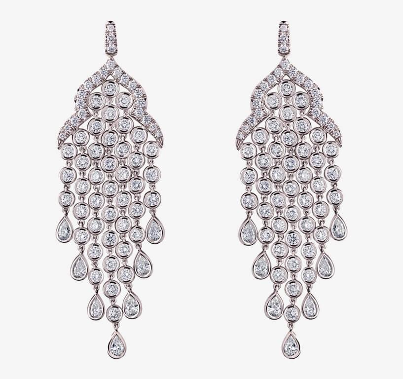 Chandelier Earrings: Elegance Personified chandelier earrings - chandelier earrings faux art deco style - Chandelier Earrings: Elegance Personified