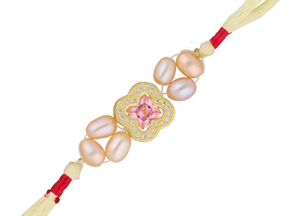 Coloured pearl rakhi raksha bandhan - Coloured pearl rakhi - Raksha Bandhan – Rakhi, Banter and Revelry