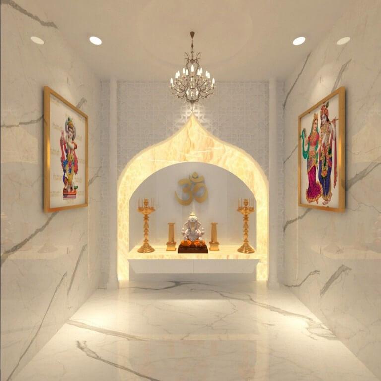 Pooja room: Simple interior design ideas pooja room - Pooja room Simple interior design ideas 1 - Pooja room: Simple interior design ideas